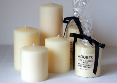 Cream Pillar & Dinner Candles